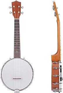 Banjo Set, Banjoe Beginner Kit, 4 String Banjo Ukulele, Banjo Drum, Musician for Adult Beginner