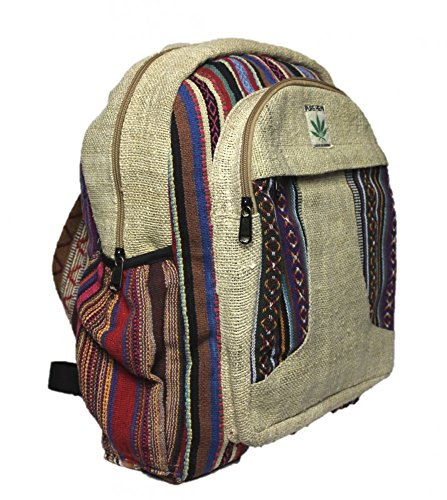 Rucksack aus Hanf, cultbagz Nepal Hand Made, Star Lines