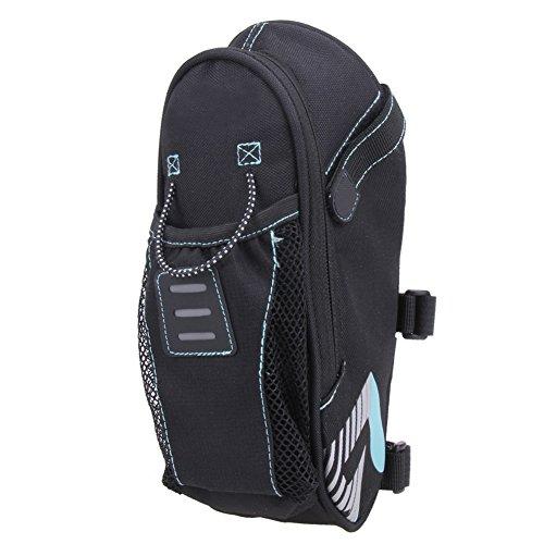 SHIZIZUO Bolsas de marco de bicicleta, bolsa de sillín de bicicleta con bolsa de botella de agua bolsa trasera de bicicleta bolsa de cola de asiento