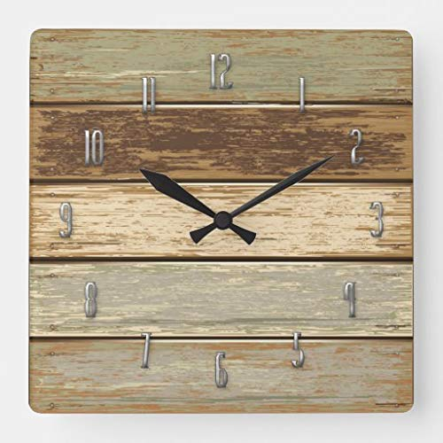 tian huan88 15 by 15-Inch Wall Clock, Driftwood In Olive Wall Clock, Living Room Clock, Home Decor Clock