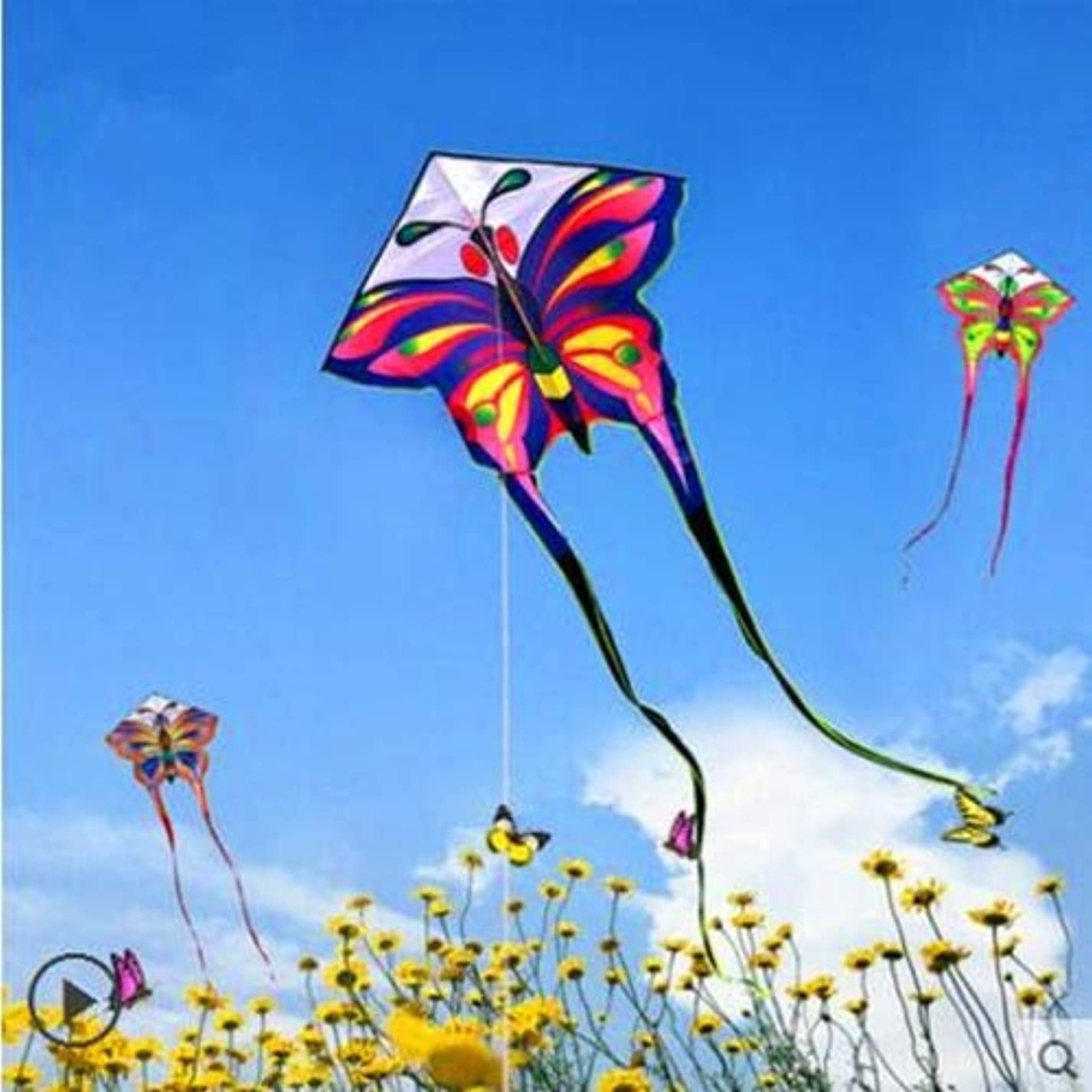 AMLJM free shipping high quality long tails butterfly kite with handle line children kite outdoor toys kite flying toys resin syr594556947963