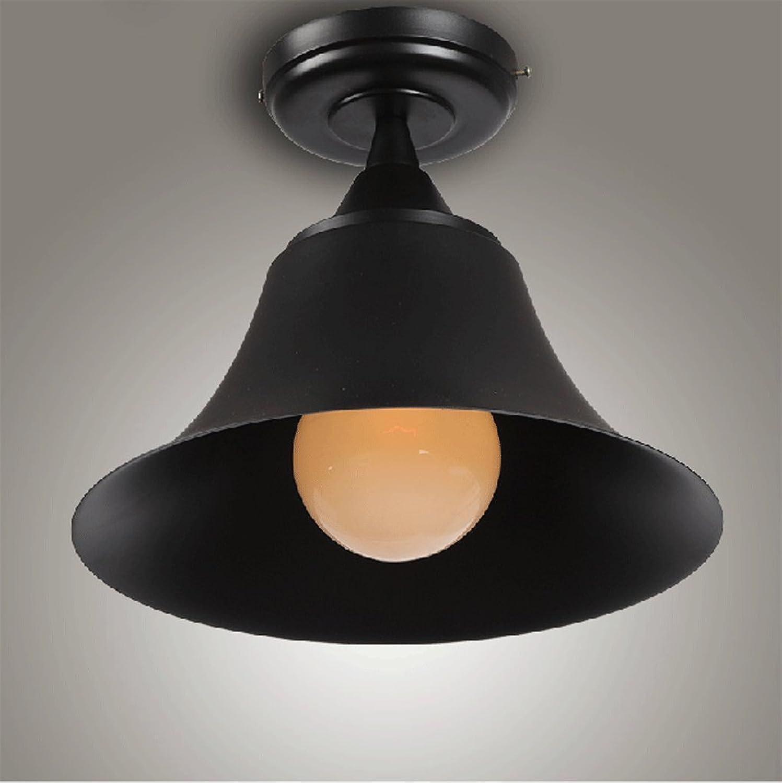 Plafonnier, Loft Retro Style Industriel Iron Round Horn Plafond Balcon américain Xuan Guan Corée Corée Lampes simples (Couleur    1)