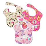 Bumkins SuperBib, Baby Bib, Waterproof, Washable, Stain and Odor Resistant, 6-24 Months, 3-Pack -...