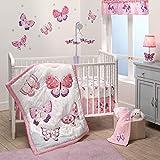 Bedtime Originals 3 Piece Crib Bedding Set, Butterfly Kisses, Multicolor