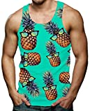 RAISEVERN Men's Funny Tank Tops 3D Printed Cool Graphic Sleeveless...