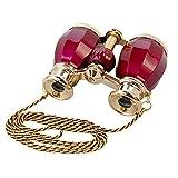 HQRP 4 x 30 Binocolo da teatro/opera, stile antico, colorato in borgogna perla con finitura dorata e...