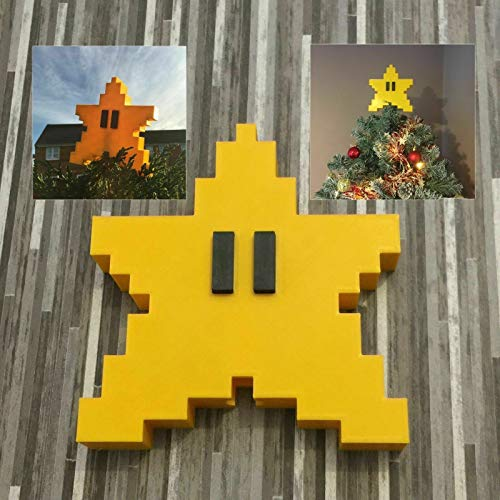 JiaSiKi Super Mario Brothers Game Scene Star Christmas Tree Holiday Mini Ornament - Perfect for Decorating a Desk Tree or Kids Christmas Tree