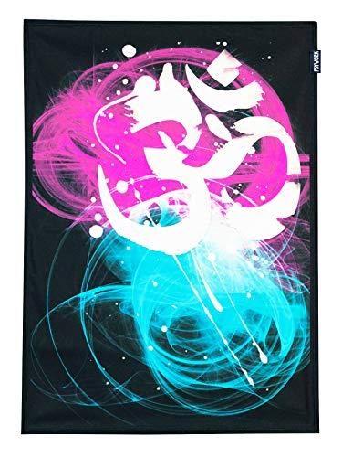 PSYWORK Schwarzlicht Stoffposter Neon Om Goa Two Tone, 0,5x0,7m