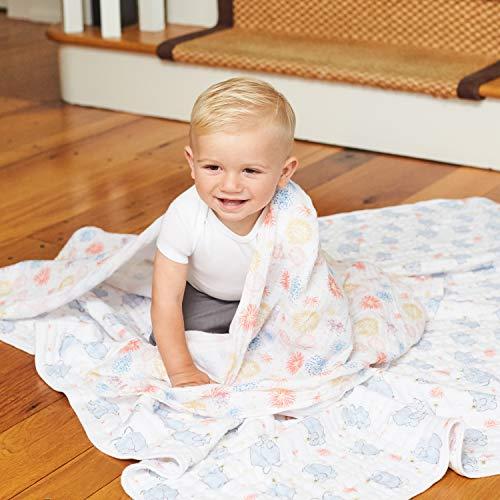 aden + anais Dream Blanket  Boutique Muslin Baby Blankets for Girls & Boys   Ideal Lightweight Newborn Nursery & Crib Blanket, Unisex Toddler Bedding, Shower & Registry Gift, Year of The Mouse