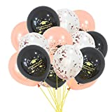 Emorias 1 juego de globos de combinación de graduación para fiesta de graduación, máscaras, actividades de carnaval, decoración, accesorios, suministros de látex Estilo 6