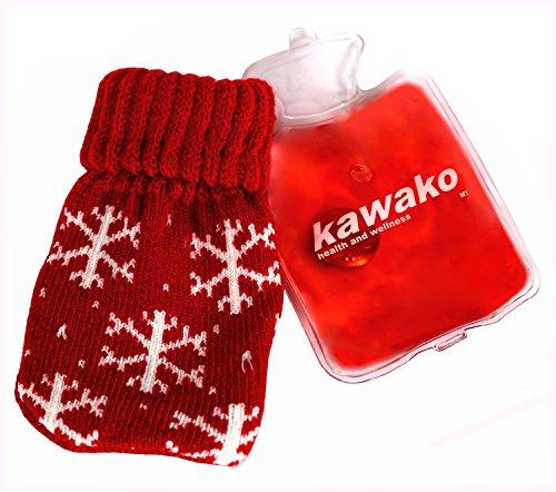 kawako Taschenwärmer/Handwärmer - Wärmflasche mit Strickbezug WF7511, Farbe:Snow Crystal