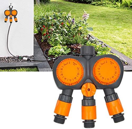 QPLKL Kit de riego por Goteo Sistema Controlador de riego automatizado Contador de Tiempo mecánico de riego Temporizador 3 2 Cabeza Puerto para jardín Invernadero Flor Cama Patio césped