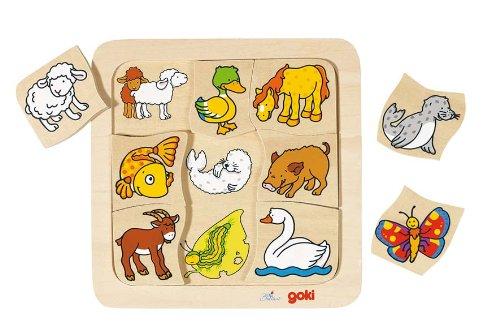 Goki - 2041685 - Puzzle En Bois À Encastrement - Qui Appartient À Qui?