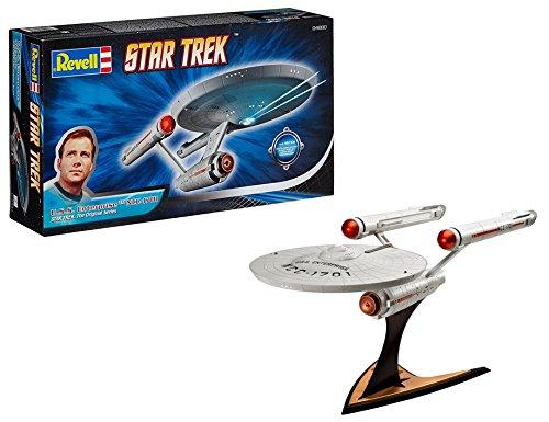 Revell Modellbausatz Star Trek - U.S.S. Enterprise NCC-1701 im Maßstab 1:600, Star Trek The Original Series, Level 3, originalgetreue Nachbildung mit vielen Details - 04880
