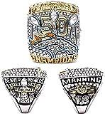 2015 Denver Championship Ring Replica, Super Bowl Championship Ring Set For Fans Collection Gift Display Keepsake - Coleccionable 10#, lsxysp, 13#