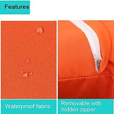 "Augld 2Pack Outdoor/Indoor Throw Pillow Cover, Waterproof Solid Pillow Case Navy, 12""x20"""