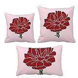 ピンクのカーネーションの母日花の植物 インサートのクッション・カバー/装飾贈り物がセットした家のソファ、枕を放り投げます