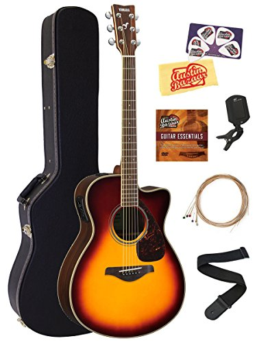 Yamaha FSX830C Solid Top Small Body Acoustic-Electric Guitar - Brown Sunburst...