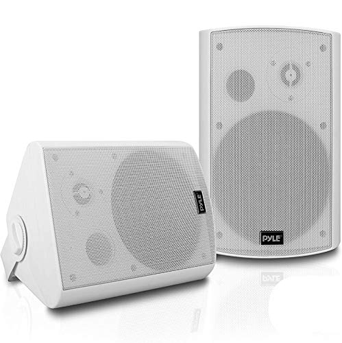 Pyle Outdoor Wall-Mount Patio Surround Sound Stereo Speakers