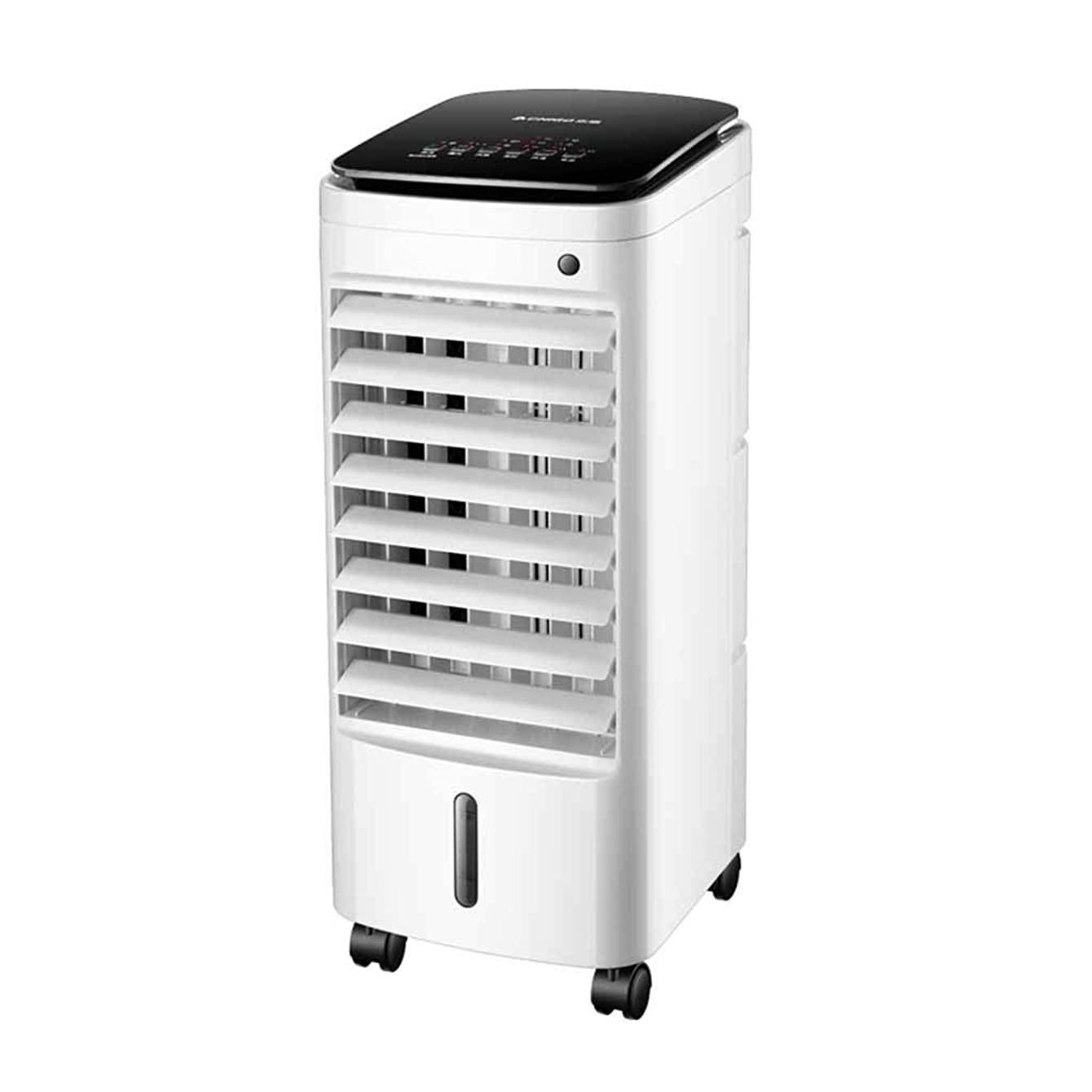 Small air conditioner Portable Evaporative Air Cooler with Remote Control, White, Humidifier, Air Purifier 3 in 1, Water Cooler with 5 Ice Colling Fan