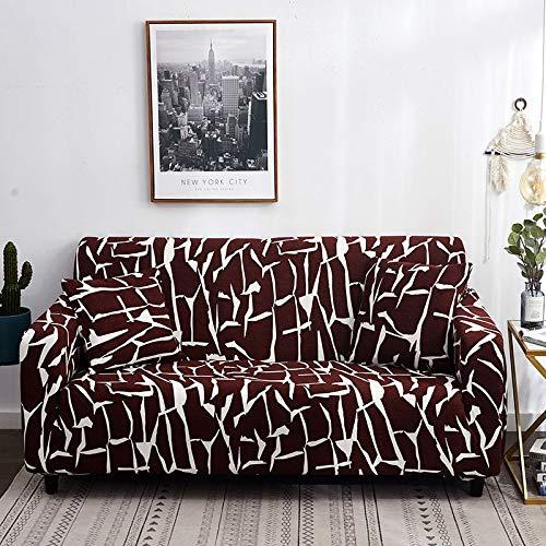Funda de sofá elástica para Sala de Estar, Toalla de sofá, Funda de sofá Antideslizante para Mascotas, Juego de Fundas de sofá Strench A15, 4 plazas