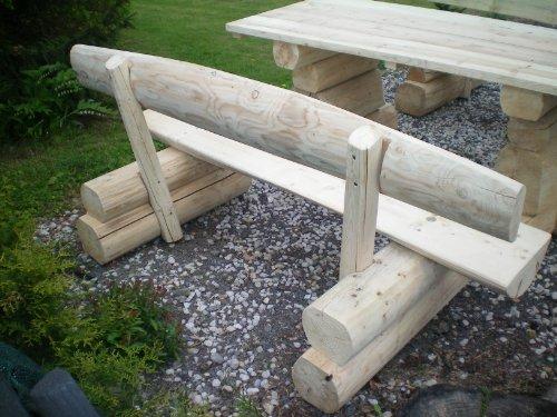 8 Personen Holzbalken Garten Sitzgruppe Bild 4*