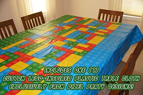 Pixel Party Toys Geburtstags-Tischdecke, 274 x 137 cm, für drinnen und draußen, Einweg-Tischdecke aus recyceltem Material