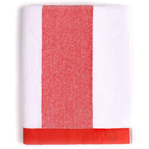 United Farben of Benetton. Casa Benetton Strandtuch, 90 x 160 cm, 450 g/m², 100% Baumwolle, Rot