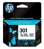 HP CH562EE 301 Cartouche d'encre Trois Couleurs Authentique pour HP Envy 4505 et HP DeskJet 1050/1512/2548/3057A Cyan, Magenta, Jaune