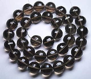 Jewel Beads Natural Beautiful jewellery 8 Inch Strand,SUPERB FINEST,AAA Quality,Smoky Quartz Stap Cut Round Beads Shape,12mm size,aprxCode:- JBB-28657