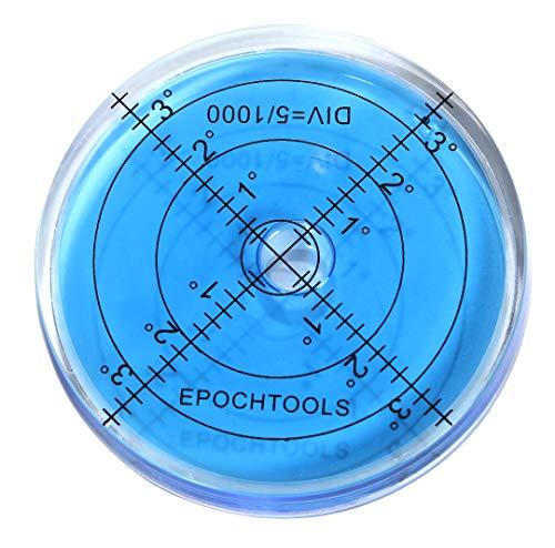 r_planning 大型 水平器 傾斜 測定 丸型 青色 66mm