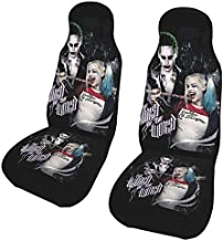 Tonymall Harley Quinn Jo-Ker Two Seat Covers Car Seat,for Post Gym Workout, Running,Swimming, Beach,Hiking,Universal Fit Anti-Slip Bucket Seat Protector for Cars, Suvs,Trucks,Machine Washable