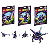 LEGO, Mixels Series 3 Bundle Set of Wiztastics, Mesmo (41524), Magnifo (41525), and Wizwuz (41526)