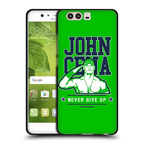 Head Case Designs Offizielle WWE John Cena Never Give Up 2 2018/19 Superstars 4 Schwarze Soft Gel Huelle kompatibel mit Huawei P10