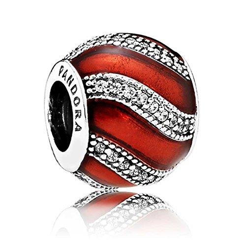 Pandora rojo oscuro encanto 791991en07