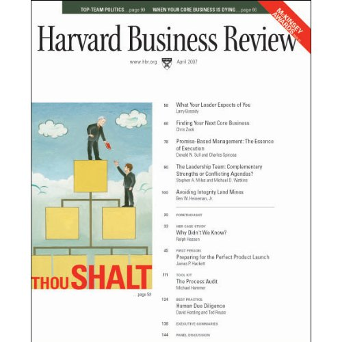 Harvard Business Review, April 2007 copertina