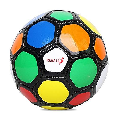 Qiuge con el índice de inflación, Equipo de Bola Serie Tradicional Nº 2 Inteligencia PU Resistente al Desgaste de fútbol de Color for los niños QiuGe (Color : Color1)