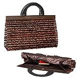 Australian Treasures - Bolso de mano para damas. Un bolso hecho a mano de bambú y madera. Elegante,...