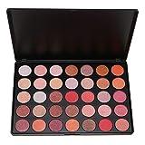 SE SEPROFE 35 Natural Warm Colours Eyeshadow Palette Waterproof Smoky Warm Matte Shimmer Eye Shadow Makeup Kit(35OS)