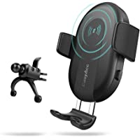 Easyacc Portable Qi Fast Inductive Wireless Car Charger Cradle for Android iPhone 6 Max Xr Xs 8 Samsung