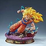 Dragon Ball Figuras De Anime Super Saiyan 3 Son Goku Figuras De Acción Estatua Figurilla Modelo Muñeca Colección Regalos De Cumpleaños,1/4