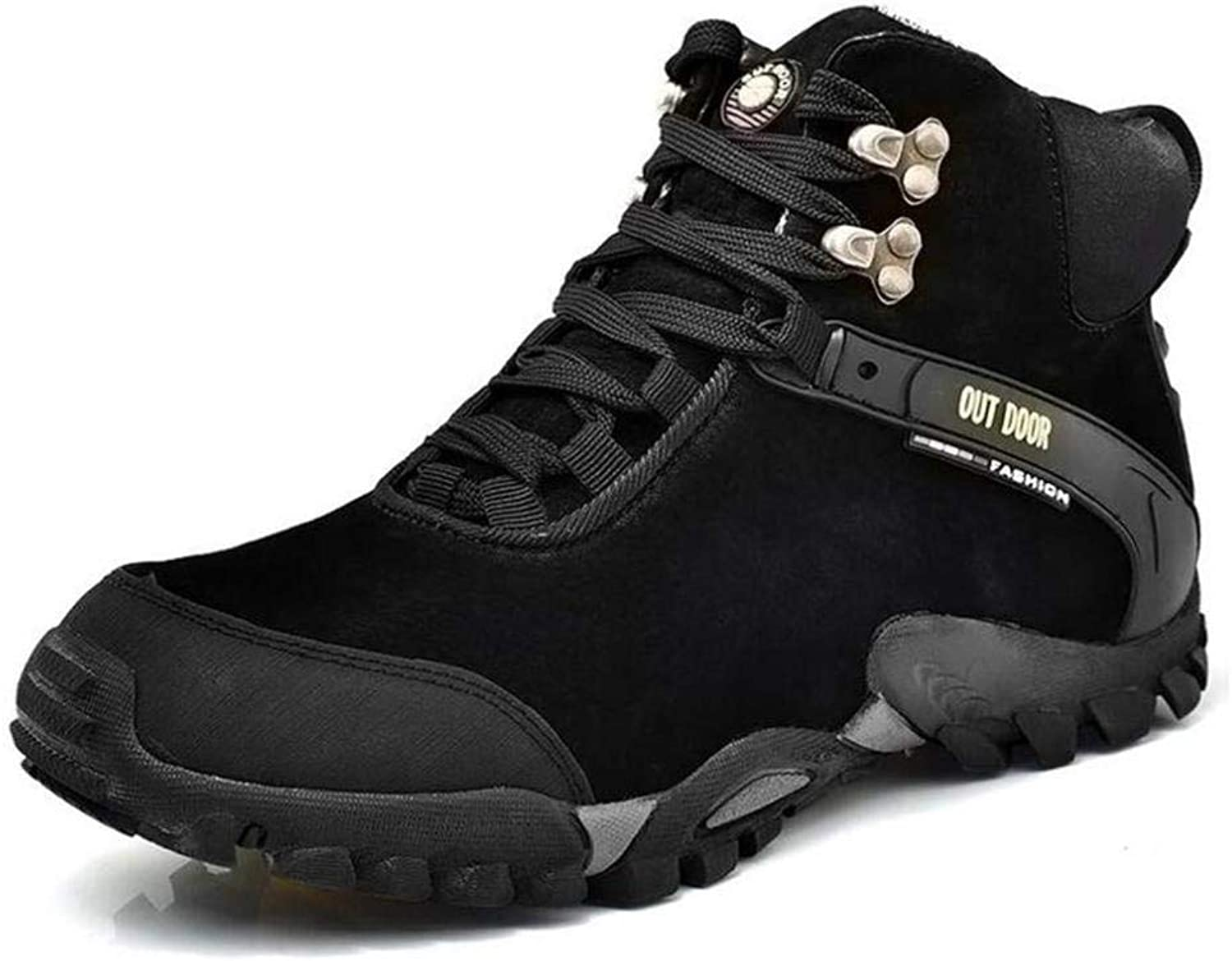 H&H Men's Casual shoes,Fall Winter Leather Outdoor Hiking shoes, Climbing Sneakers, Running shoes, Travel shoes, Camping Trekking