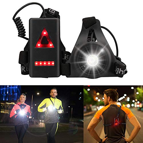 Outdoor Night Running Lights, LED Chest Run Light with USB Charge for Camping, Hiking, Running, Jogging, Outdoor Adventure