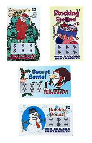 20 Fake Lottery Tickets Christmas Holidays, New Years, Hanukkah, Gag Gift Stocking Stuffer . Each...
