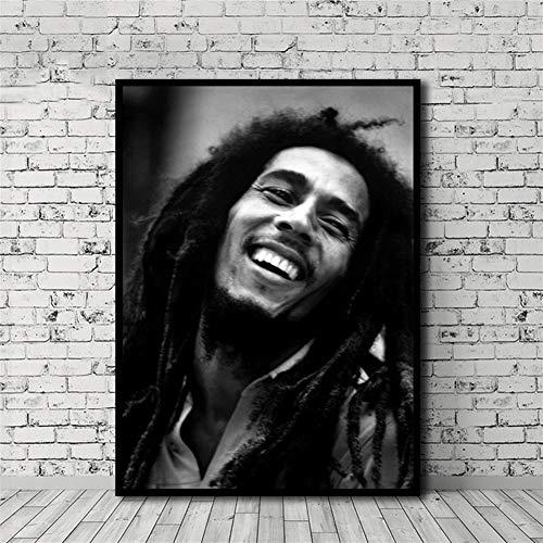 HNTHBZ Leinwand-Malerei Bob Marley Poster HD-Druck-Ölgemälde Wand-Deko Wohnkultur No Frame Hanging Gemälde (Size (Inch) : 60x85cm)