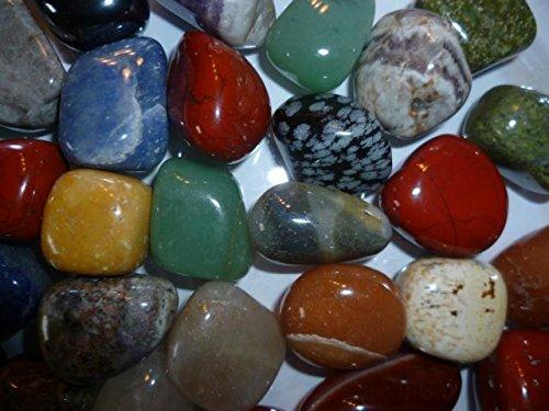 Edelsteine (500g) - hochwertiger Trommelsteinmix - bunte Mischung - 2-3cm große Steine - inkl. Infomaterial - von AMAHOFF
