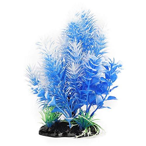 Pssopp Aquarium Kunststoff Pflanzen Künstliche Wasserpflanzen Lebendige Simulationsanlage Aquarium Dekoration für Aquarium Garten Lands Yard Hotel Landschaft Dekorationen