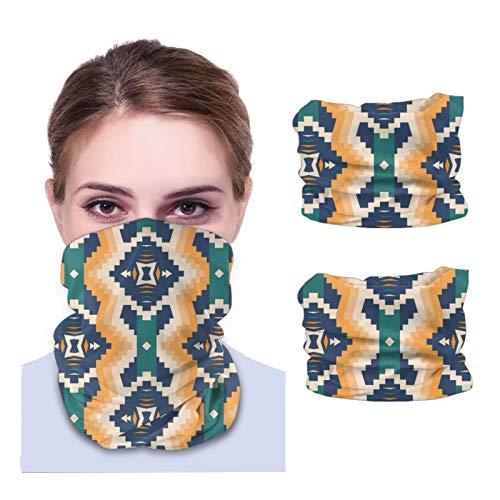 Beauty-Design 2 bragas nativas del suroeste americano azteca Navajo sin costuras, pasamontañas, bandana para cubrir la cara, bufanda para hombres y mujeres