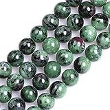 Perles en pierre naturelle rubis zoïdaux pour la fabrication de bijoux, de bracelets, de colliers de 25,4 cm (10 mm)