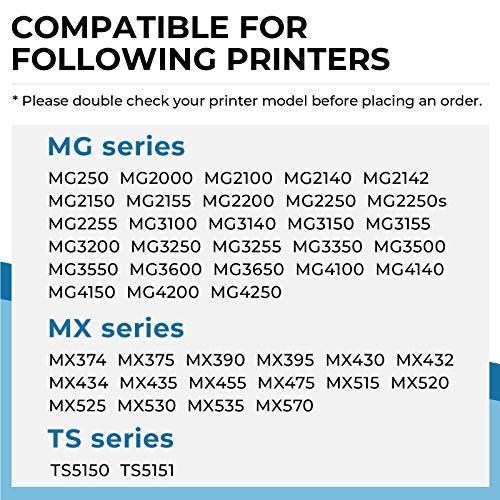 Penguin-Cartucho de Tinta Remanufacturado para Canon PG-540XL,CL-541XL 540 541XL Compatible con MG2150 MG3250 MG4250 MX375 MX435 MG2100 MG2250 MG3100 MG3150 MG3200 MG3500 Impresora (1 Negro, 1 Color)